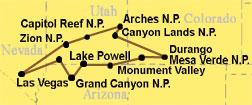 National Park Camp Tour Reiseroute: