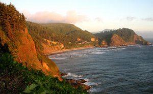 Oregon Pazifik Küste beim Sonnenuntergang