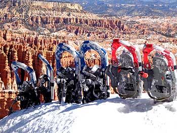 Schneeschuh-Wandern im Bryce Canyon National Park
