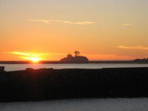 Sonnenuntergang am Pazifischen Ozean