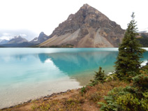 Bow Lake, Mount Jimmy Simpson