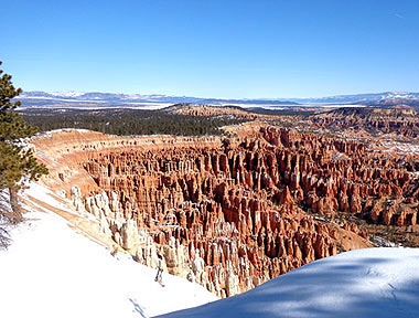 Winter Bryce Canyon National Park Reise USA