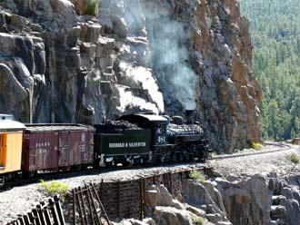 Durango-Silverton historische Dampfeisenbahn