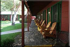 Motel auf Kalifornien Reise in Kernville, wo John Wayne zu übernachten pflegte.