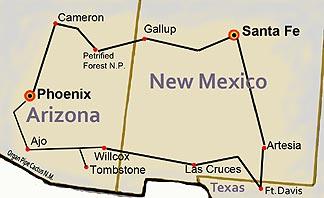 Reiseroute: von Phoenix nach Phoenix, Arizona