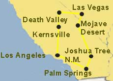 Desert Springs Tour Map