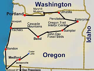 Oregon Tour Map