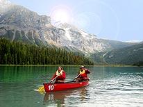 Emerald Lake Kanufahrt