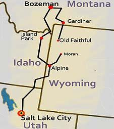 Winter Yellowstone Reise-route: geführte Kleingruppen Reise von Salt Lake City nach Bozeman