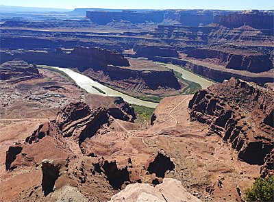 Deadhorse Point State Park Aussicht auf Colorado River