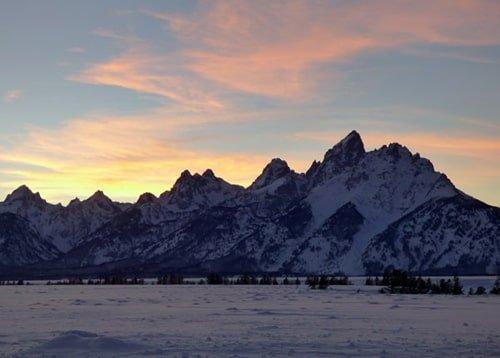Grand Teton Sonnenuntergang