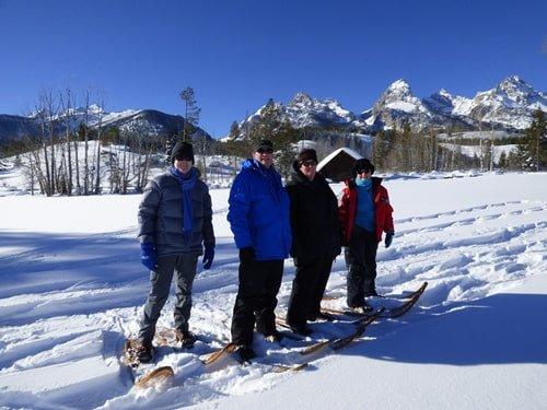 Winter im Grand Teton Schneeschuhlaufen